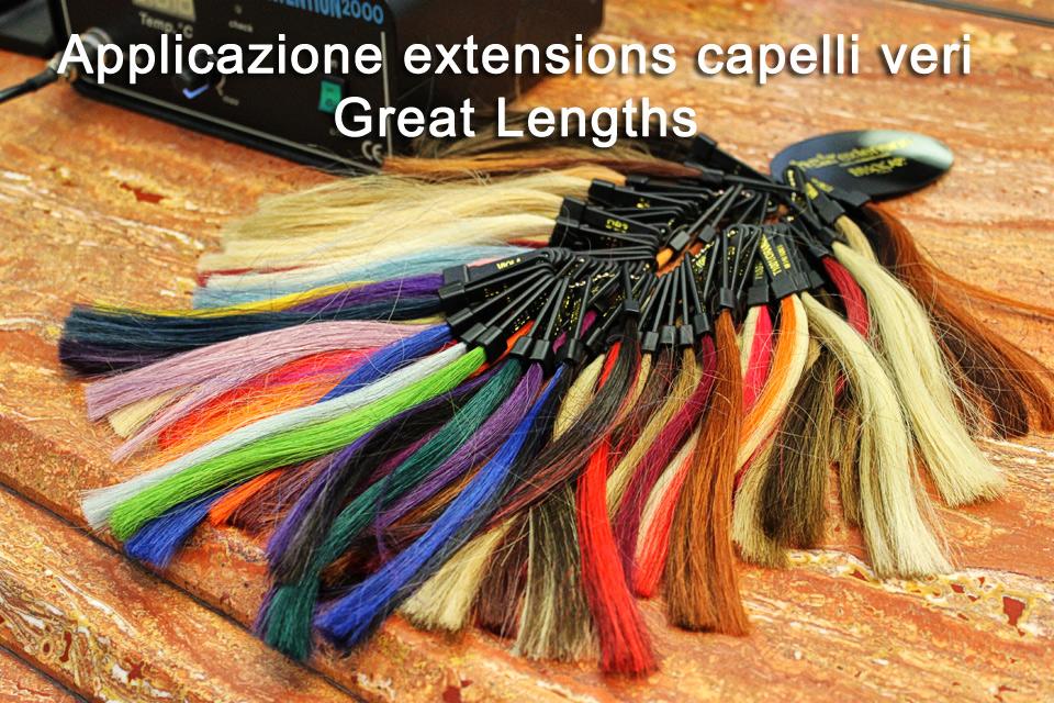 applicazione extensions capelli veri